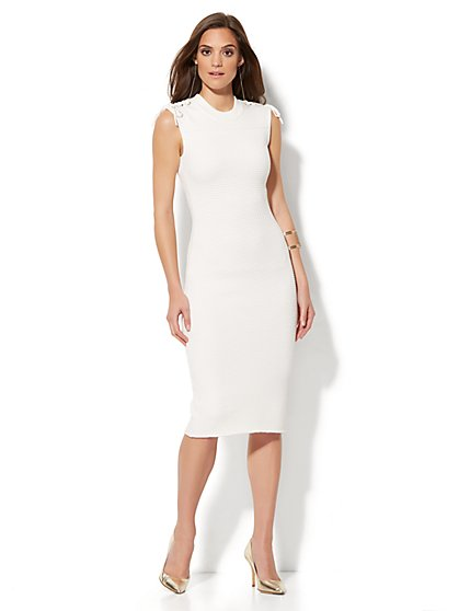 Knit Sheath Dress - Petite  - New York & Company
