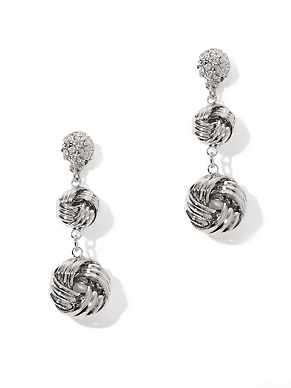 Knot Double Drop Earrings  - New York & Company