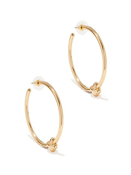 Knot Hoop Earring - New York & Company