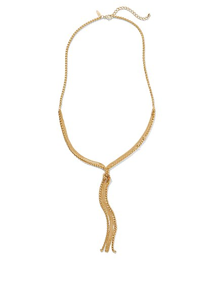 Knotted Lariat Necklace  - New York & Company