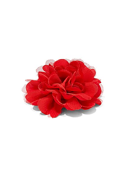 Lace & Chiffon Floral Pin  - New York & Company