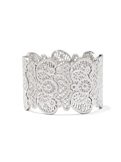 Lace Design Stretch Bracelet - New York & Company