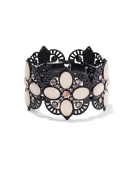 Lace Filigree Flower Stretch Bracelet  - New York & Company