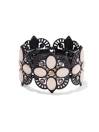 Lace Filigree Flower Stretch Bracelet  - New York & Company