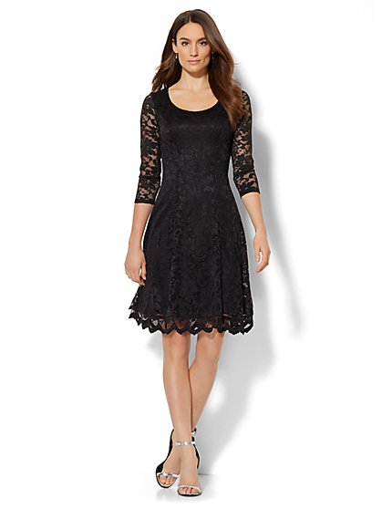 Lace Flare Dress  - New York & Company