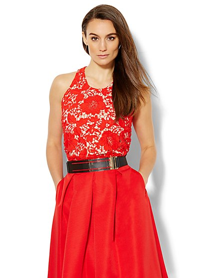 Lace Halter Top  - New York & Company