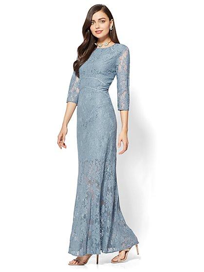 Lace-Overlay Maxi Dress - New York & Company