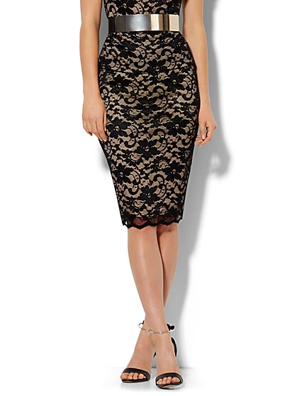 Lace Pencil Skirt  - New York & Company