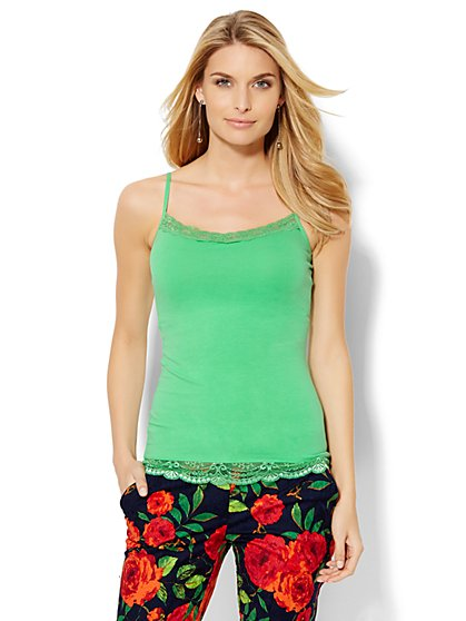 Lace-Trim Camisole Top  - New York & Company
