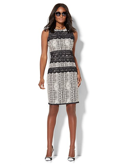 Lace-Trim Sheath Dress  - New York & Company