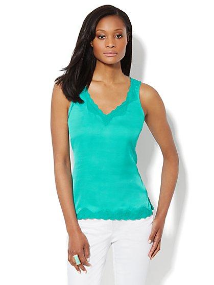 Lace-Trim Silky Camisole