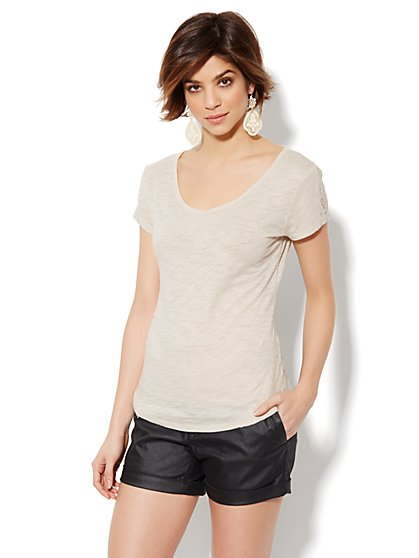 Lace-Trim Tee