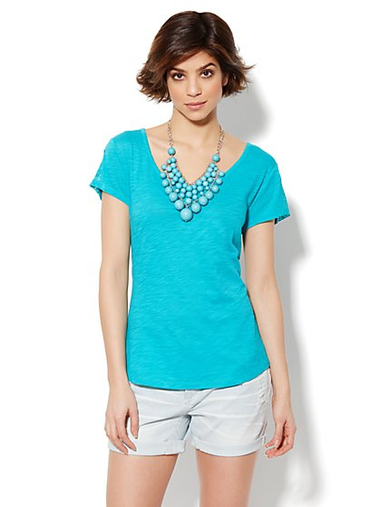 Lace-Trim Tee - New York & Company