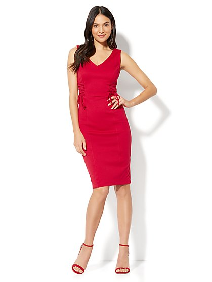 Lace-Up Accent Sheath Dress - New York & Company