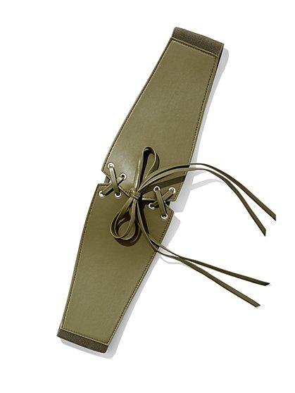 Lace-Up Corset Belt - New York & Company
