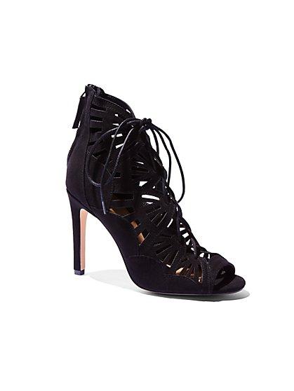 Lace-Up Cutout Sandal  - New York & Company