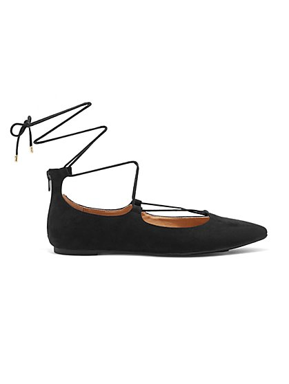Lace-Up Flat  - New York & Company