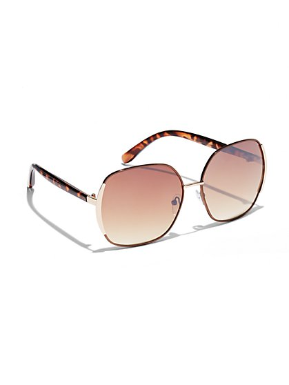Large Tortoise Sunglasses  - New York & Company