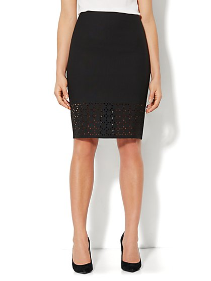 Laser-Cut Pencil Skirt
