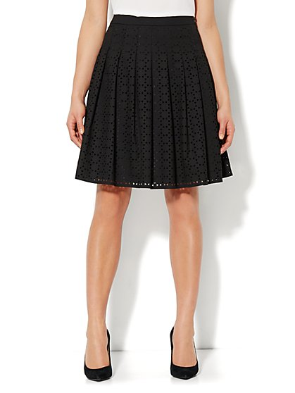 Laser-Cut Pleat Skirt