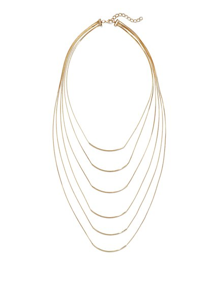 Layered Bar Necklace  - New York & Company