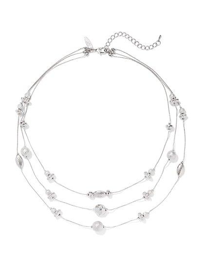 Layered Beaded Necklace  - New York & Company