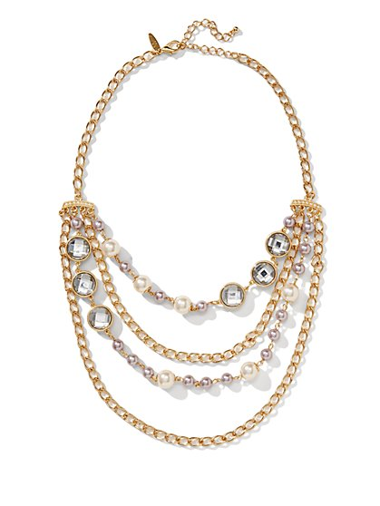 Layered Chain-Link Necklace  - New York & Company