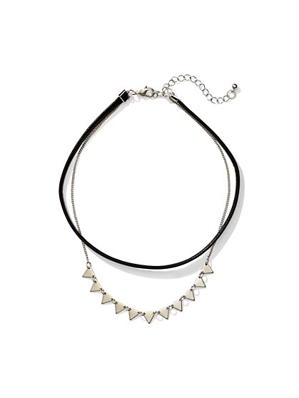 Layered Choker Necklace  - New York & Company