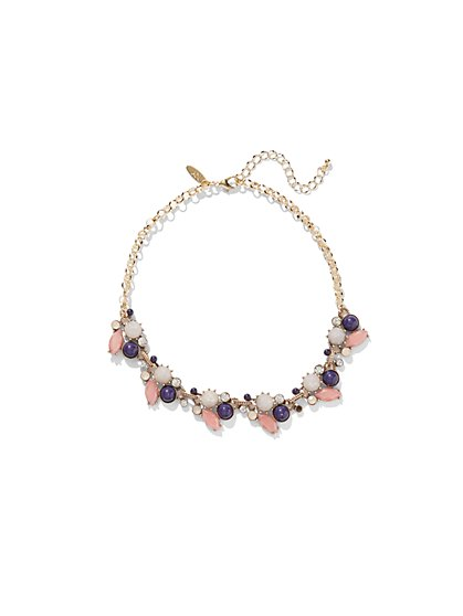 Layered Choker & Pendant Necklace  - New York & Company