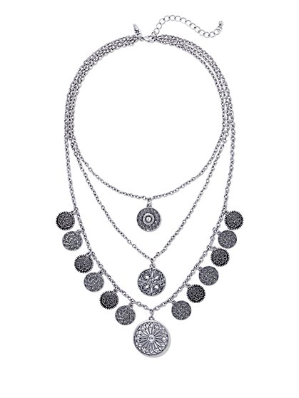 Layered Coin Necklace  - New York & Company