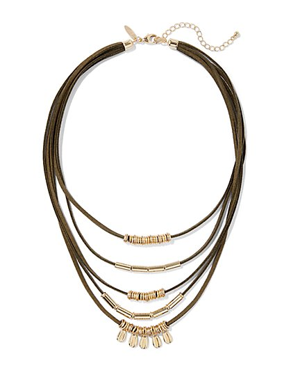 Layered Cord Necklace  - New York & Company