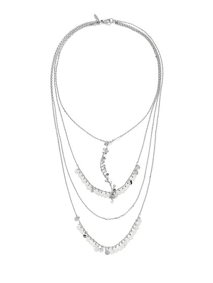 Layered Disc Necklace  - New York & Company