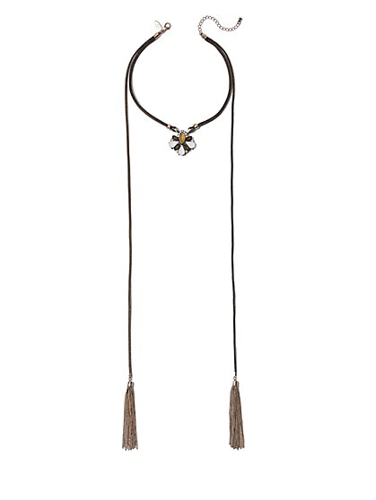 Layered Double-Tassel Necklace  - New York & Company