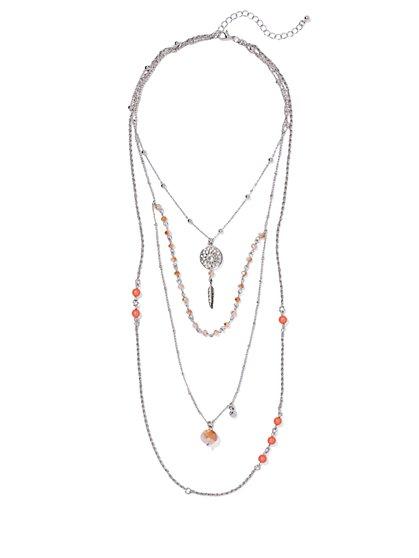 Layered Dream Catcher Necklace  - New York & Company
