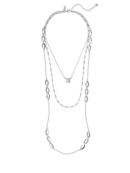 Layered Geo Necklace  - New York & Company