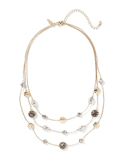 Layered Illusion Necklace  - New York & Company