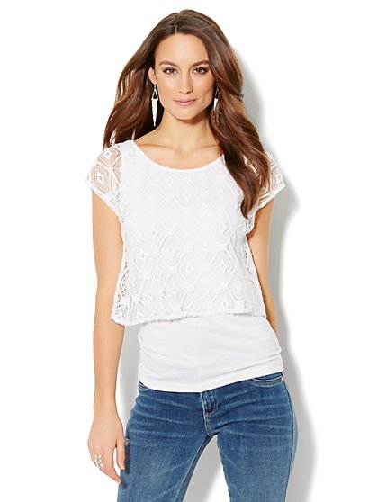 Layered Lace Top - New York & Company