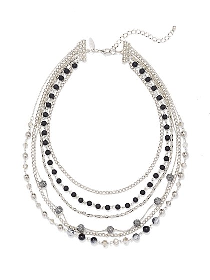 Layered Multi-Row Necklace  - New York & Company