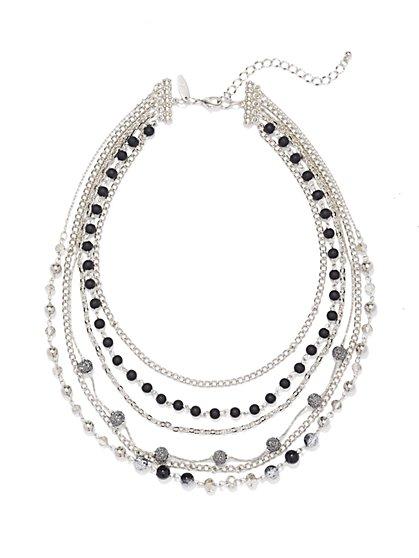 Layered Multi-Row Necklace  - New York & Company