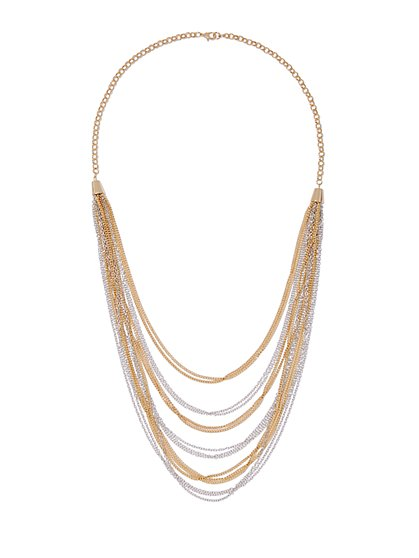 Layered Multi-Strand Necklace  - New York & Company