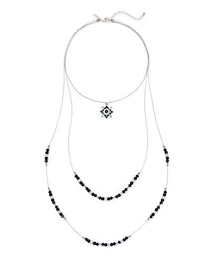 Layered Pendant Necklace  - New York & Company