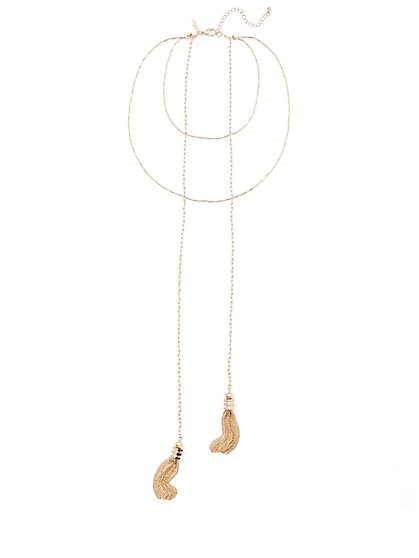 Layered Tassel Necklace  - New York & Company