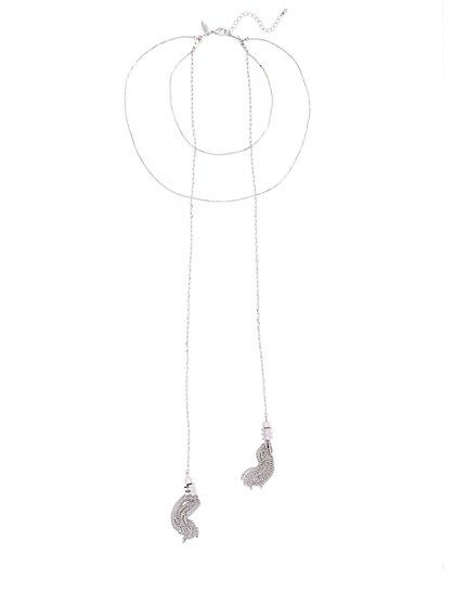 Layered Tassel Necklace  - New York & Company