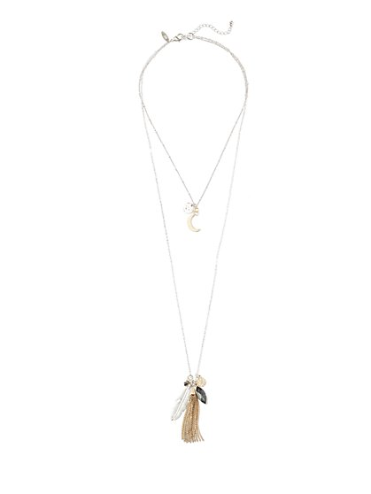 Layered Tassel Pendant Necklace  - New York & Company