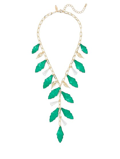 Leaf Statement Y-Necklace - New York & Company