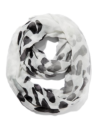 Leopard-Ombre Print Scarf