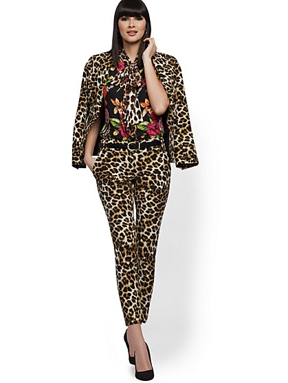 Leopard-Print Ankle Pant - Modern Fit - 7th Avenue - New York & Company