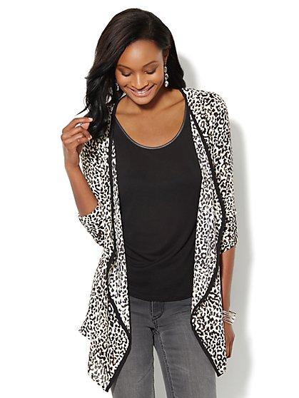 Leopard-Print Flyaway Jacket - New York & Company