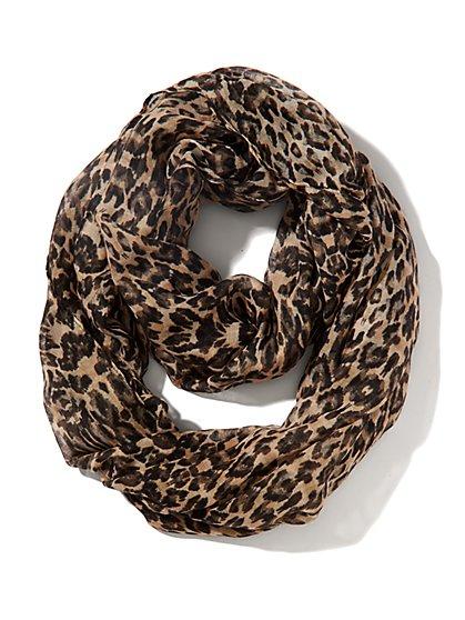Leopard-Print Scarf - New York & Company