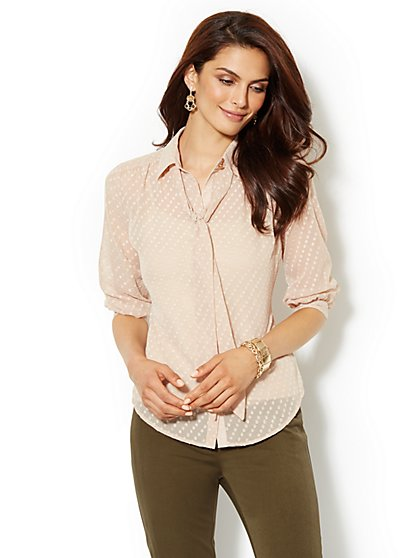 Lexington Soft Shirt - Clip Dot - New York & Company